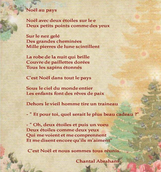 Poème Noël Au Pays écrit Par Chantal Abraham De La Part