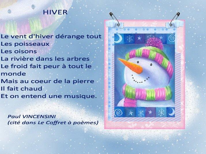 poème HIVER