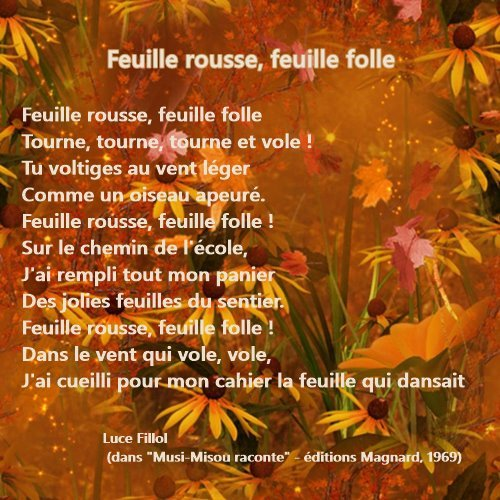 Feuille rousse