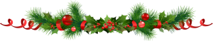 barre-noel-branches-sapins-houx-boules-rouge-copyright